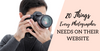 20 Things Every Photographer Needs on Their Website