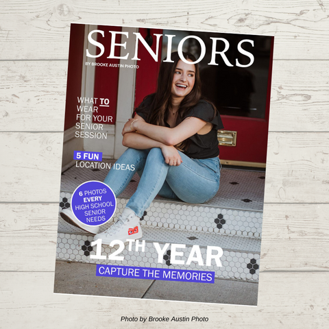 senior photographer welcome guide template