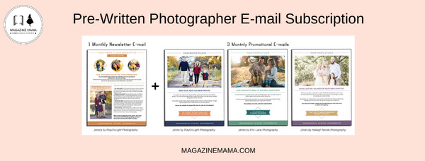 email ideas for photographers
