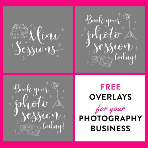 FREE Photo Overlays for Marketing Your Photography Business