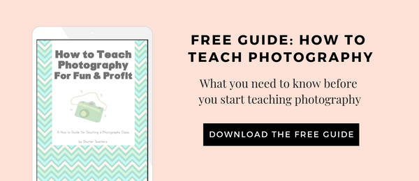 How to teach photography classes