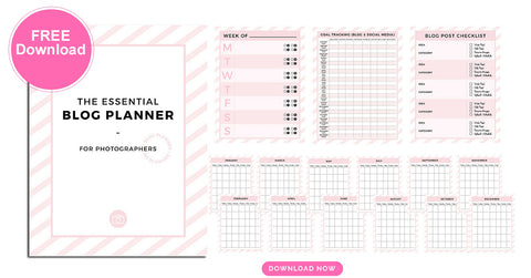 FREE blog planner for photographers