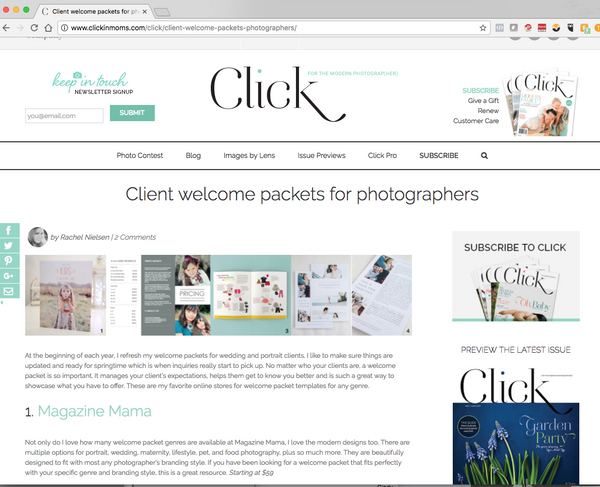 Magazine Mama featured on Clickin Moms