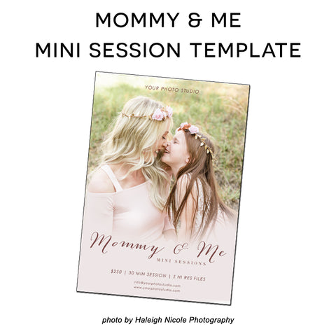 Mommy and me free mini session template