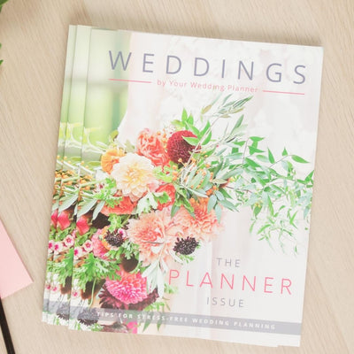 Wedding Planner Magazine Template (Canva Template Version)