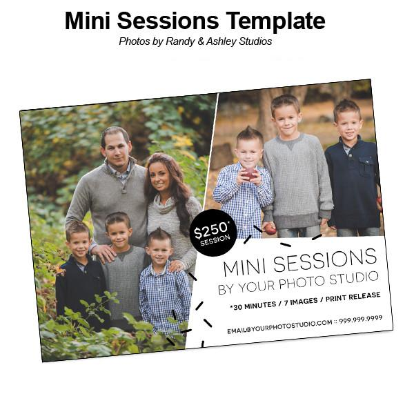 5x7 Flat Card - Mini Session 01 Template