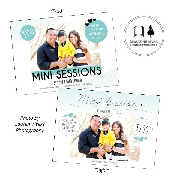 Mini Session Templates 5x7 (Set of 2)
