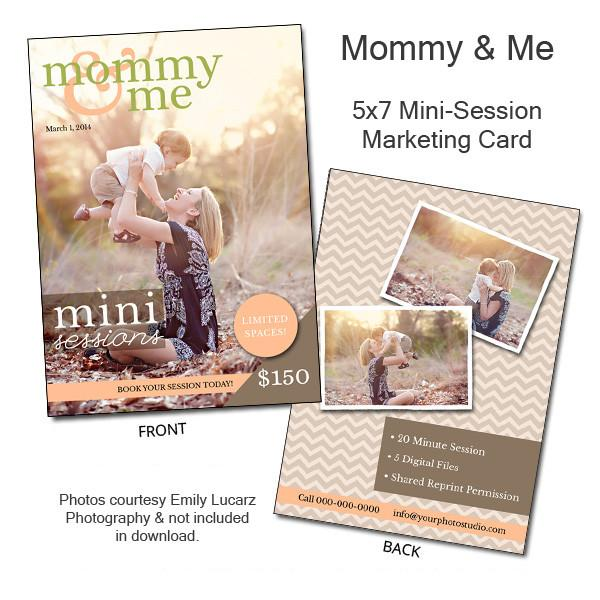 Mommy & Me Mini-Session Marketing Template 5x7 Flat Card