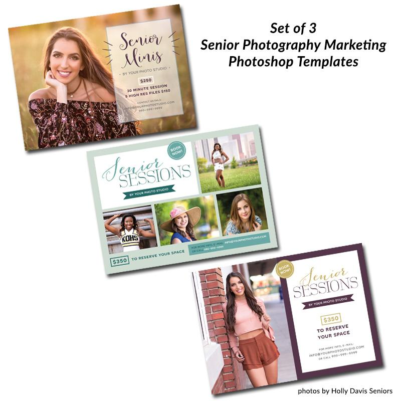 Senior Photography Marketing Templates (Set of 3)