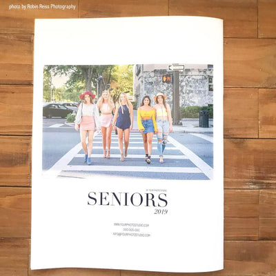 senior portrait magazine template back cover