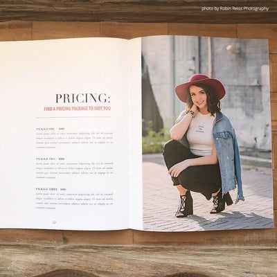 senior magazine templates for photographers