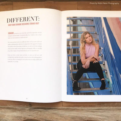 high school senior magazine template