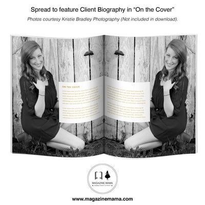 "8.5x11 Magazine Template - ""Be Fabulous"" - Customizable Client Magazine Template"