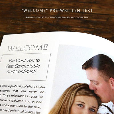 8.5x11 Magazine Template - Family Photography Welcome Guide Template