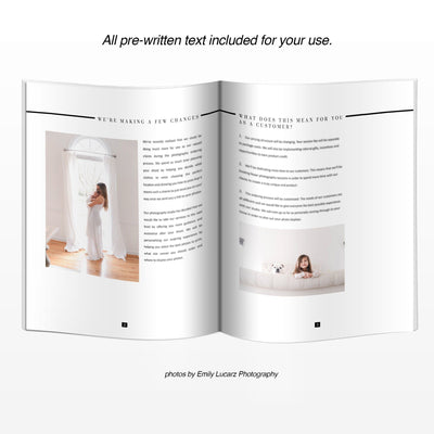 Inside Layout of Photography In Person Sales Guide