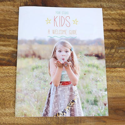 8.5x11 Magazine Template - Kids Welcome Guide