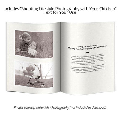 8.5x11 Magazine Template - Lifestyle Photography Welcome Guide