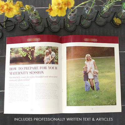 8.5x11 Magazine Template - Maternity Welcome Guide