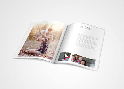8.5x11 Magazine Template - New! Studio Welcome Guide