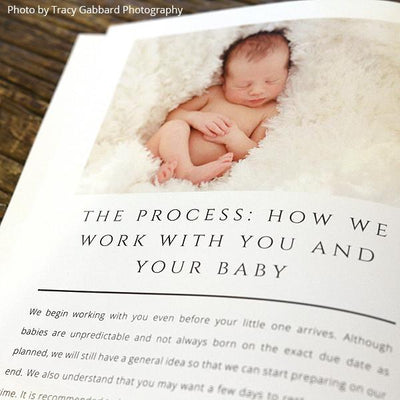 8.5x11 Magazine Template - Newborn Photography Welcome Guide Template
