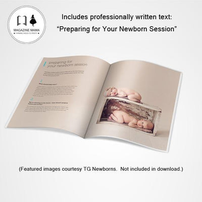 8.5x11 Magazine Template - Newborn Welcome Guide