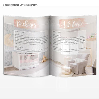 8.5x11 Magazine Template - Newborns Magazine Welcome Guide
