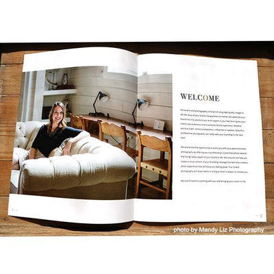 Personal Brand Photography Magazine Template for Photographers
