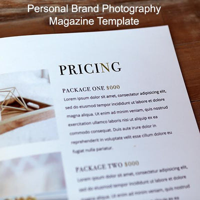 Personal Brand Photography Marketing Templates