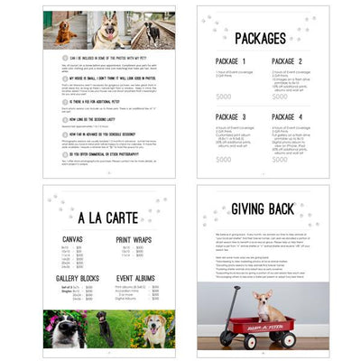 8.5x11 Magazine Template - Pets Welcome Guide