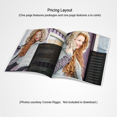 8.5x11 Magazine Template - Senior Modeling Welcome Guide