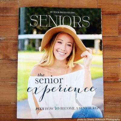 Senior photography marketing magazine template cover