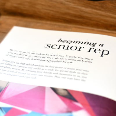 Becoming a senior rep article included in this senior photography template
