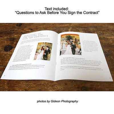 8.5x11 Magazine Template - Weddings Magazine Welcome Guide Template