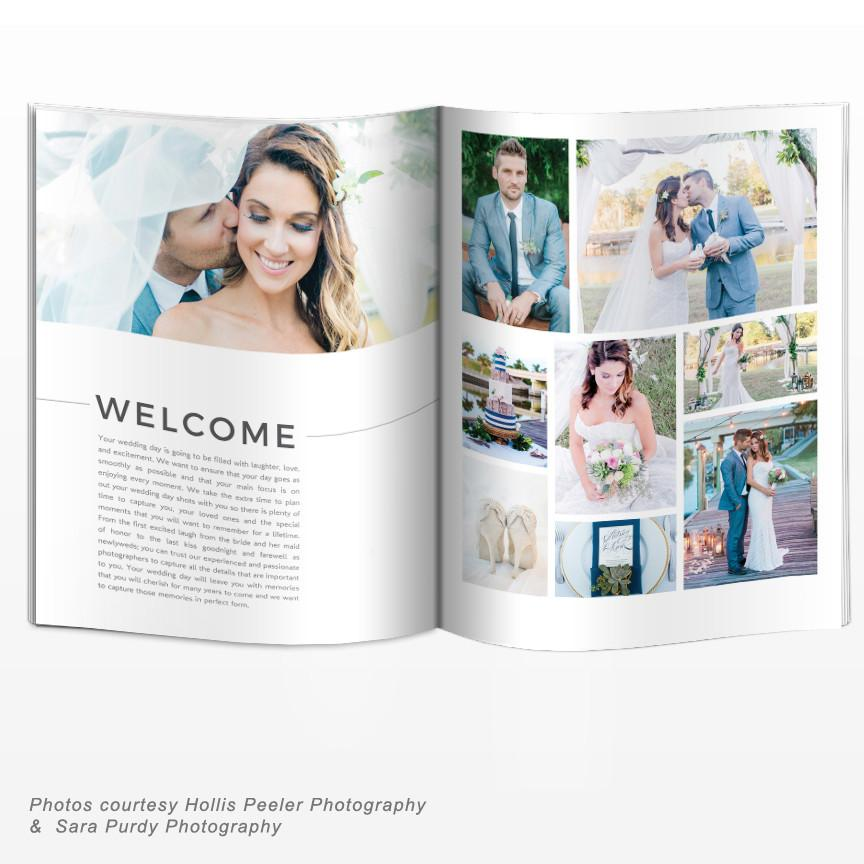 8.5x11 Magazine Template - Weddings Welcome Guide Template (Modern/Minimal)