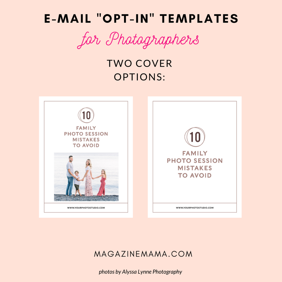 Photographer Lead Magnet Templates (Family 01)