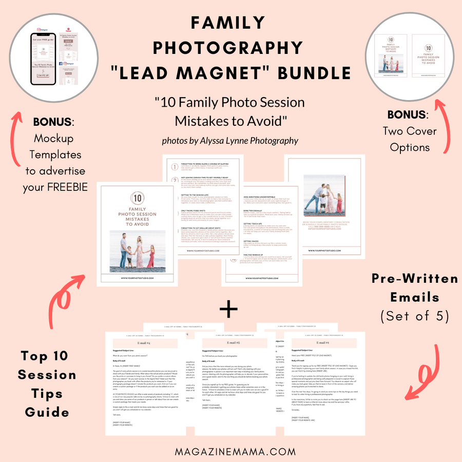 Photographer Lead Magnet Template Kit Bundle