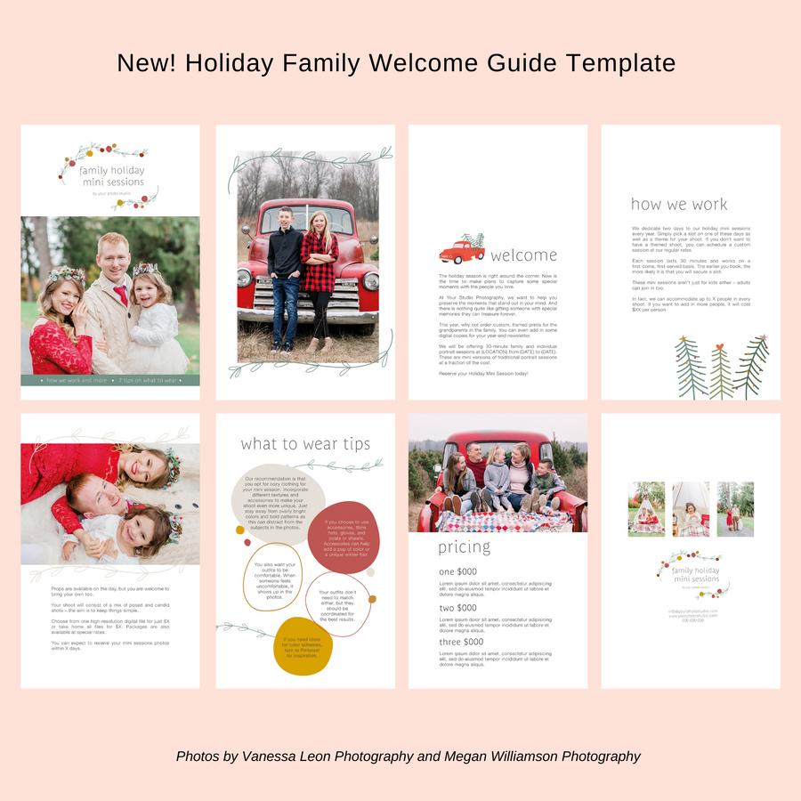 Family Holiday Mini Session Welcome Guide