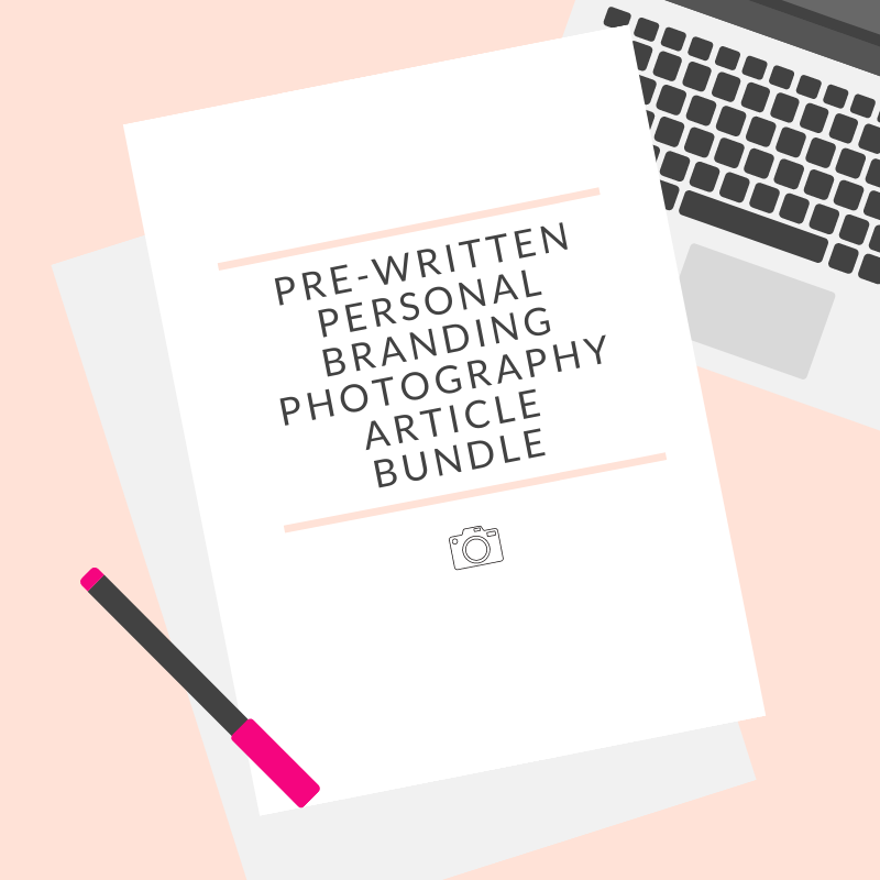 Personal Branding Photography Text Bundle