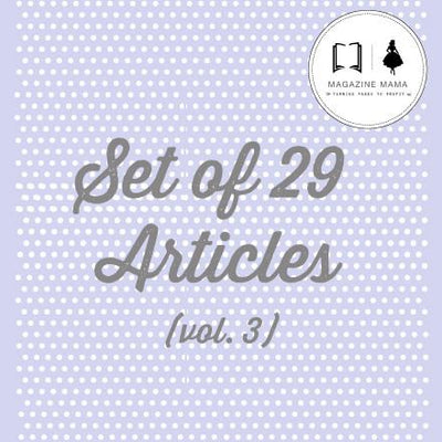 Articles - Articles Bundle - Vol. 3 - Set Of 29 Articles