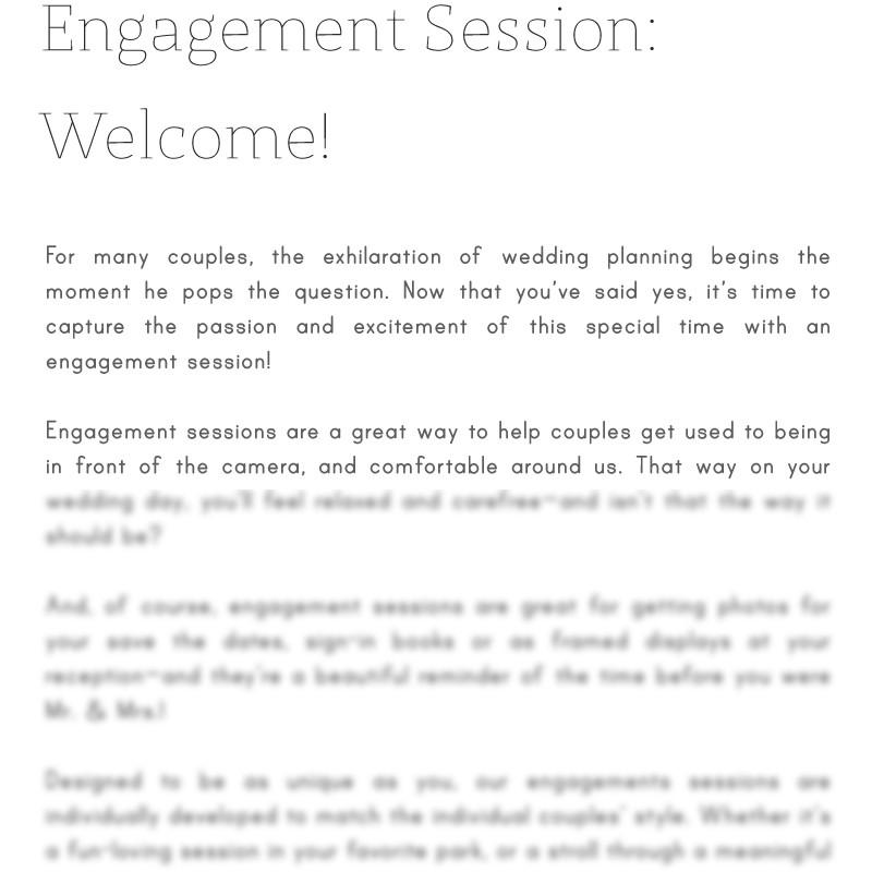 Articles - Articles Vol. 1 - Engagement Sessions