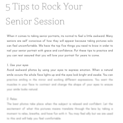 Articles - Articles Vol. 1 - Senior Photography