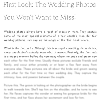 Articles - Articles Vol. 1 - Wedding Photography