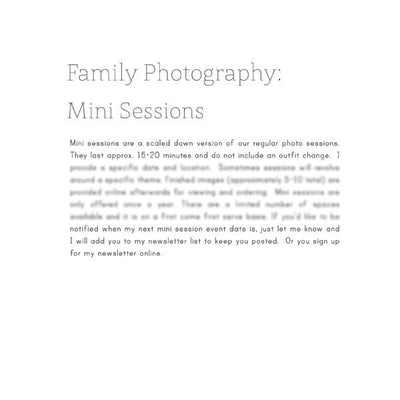 Articles - Articles Vol. 2 - Family Photography