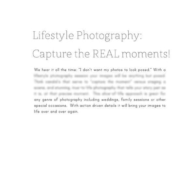 Articles - Articles Vol. 2 - Lifestyle Photography