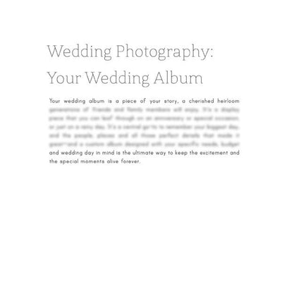 Articles - Articles Vol. 2 - Wedding Photography & Engagement Session