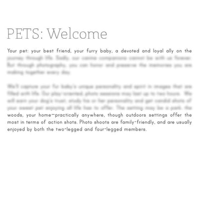 Articles - Photography Pre-Written Aricles - Vol. 3 - Pet Photography