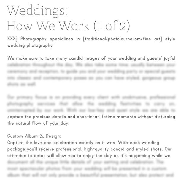 Articles - Photography Pre-Written Articles Vol. 3 - Wedding Photography