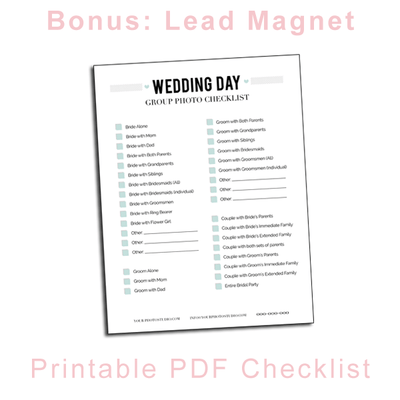 photograph about Printable Wedding Photography Checklist called Wedding day Images E-deliver Internet marketing Package