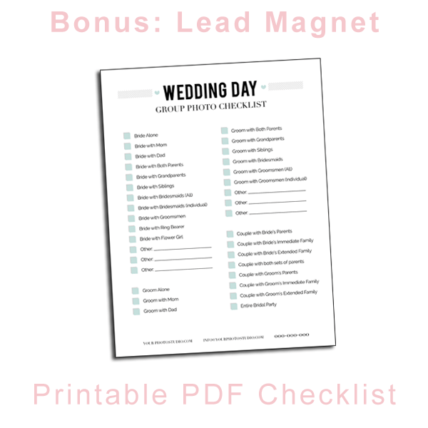 image about Wedding Photography Checklist Printable known as Marriage Pictures List