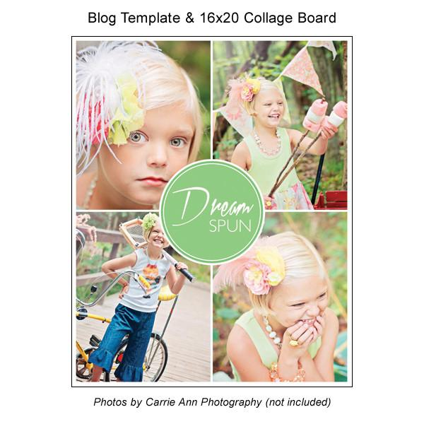 Blog Template And 16x20 Collage Board 01